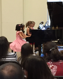 Four Girls at Piano Web