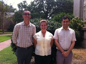 Former Pruett Fellows (L-R): Christopher Campo-Bowen, Gina Bombola, William Robin