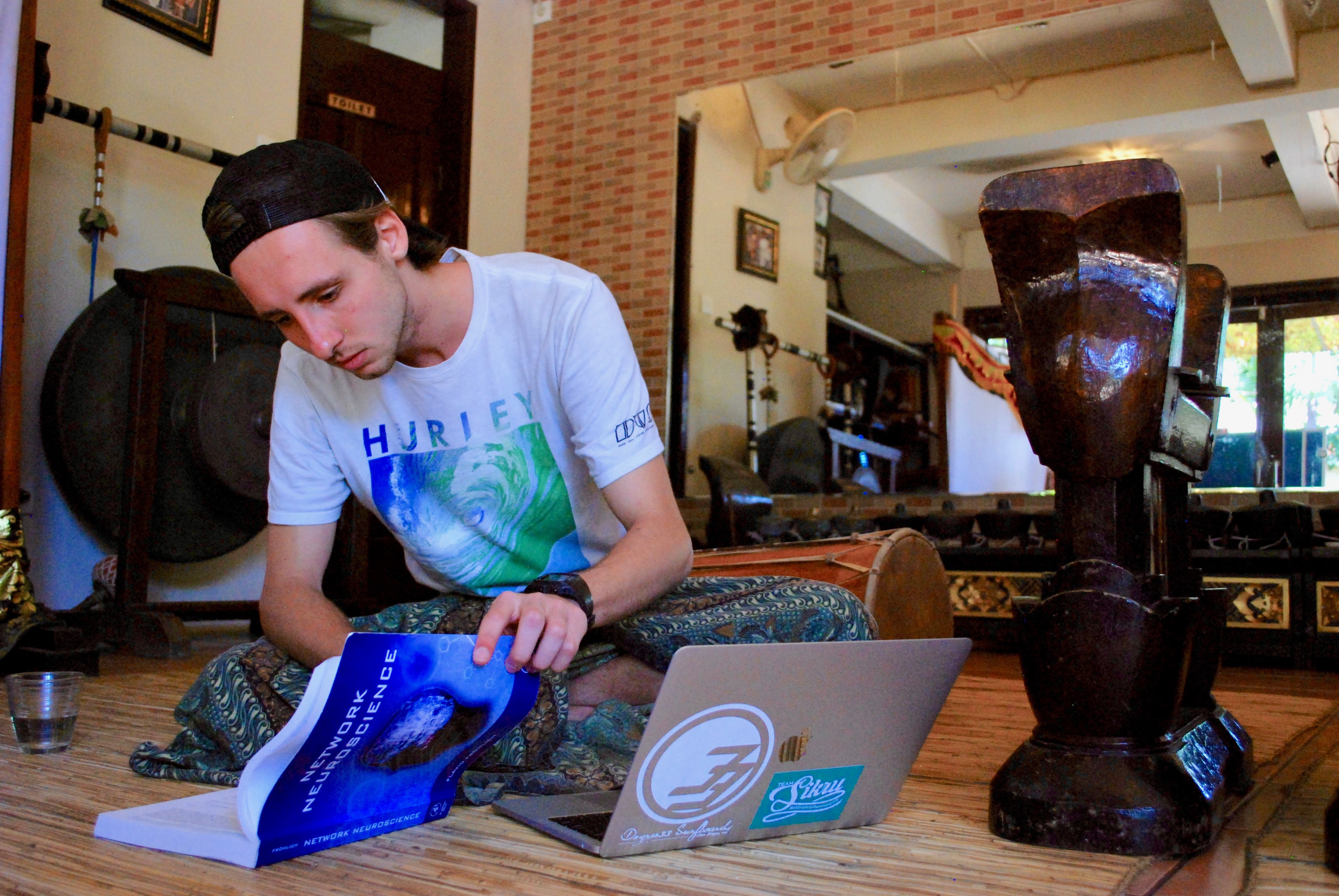 Trevor McPherson studying in Indonesia