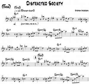 Distracted Society Bass Part Pict