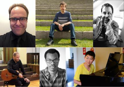 Clockwise from top left: Walzer, Silva, Kaplan, Liu, Morson, Baggio