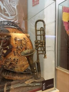 Image of chocolate trombone in museum