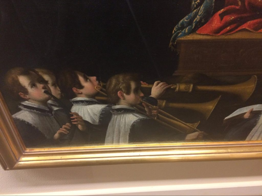 Image of sackbuts in a painting