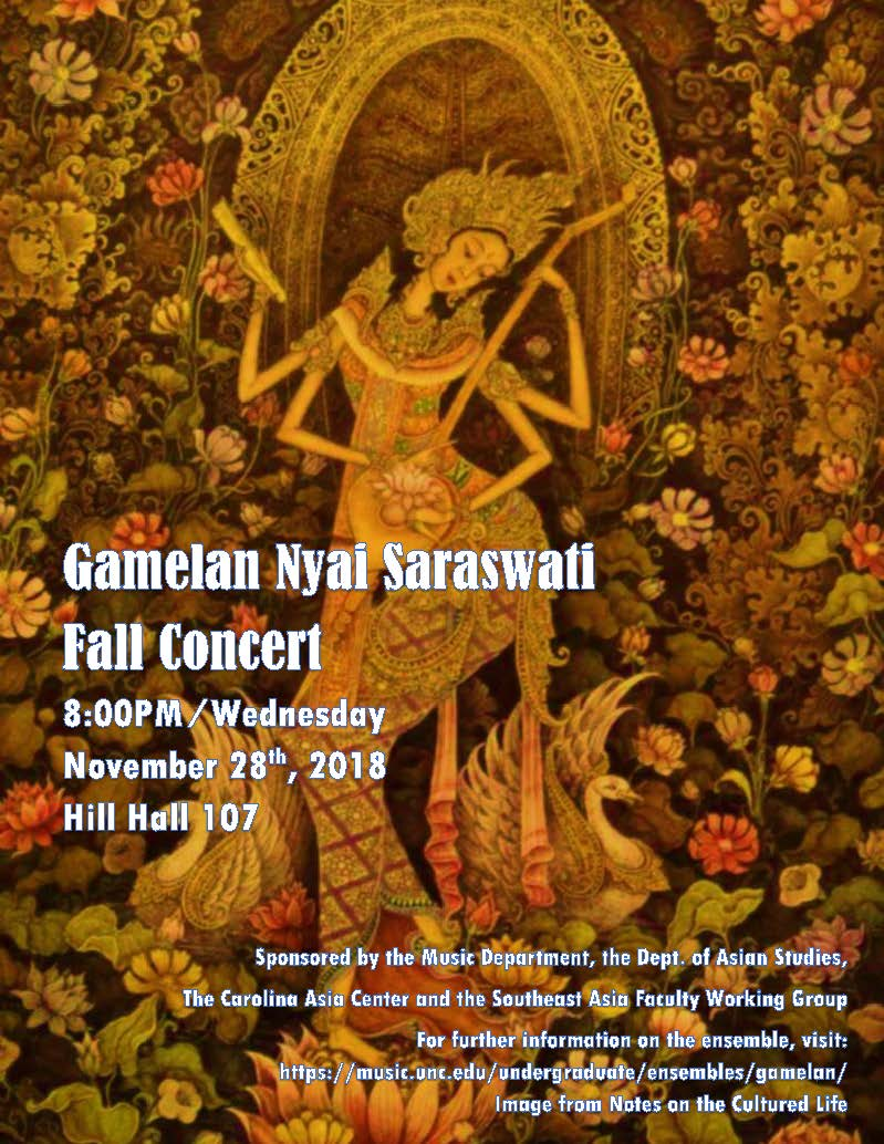 gamelan concert fall 2018