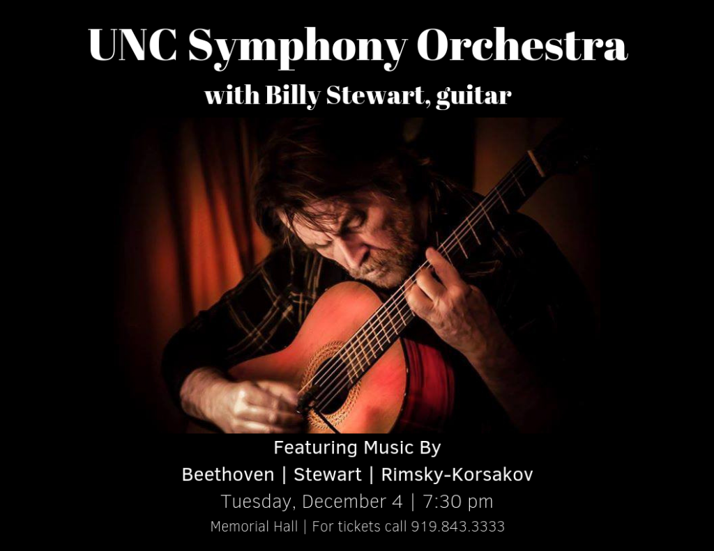 UNC Symphony Orchestra with Billy Stewart, guitar