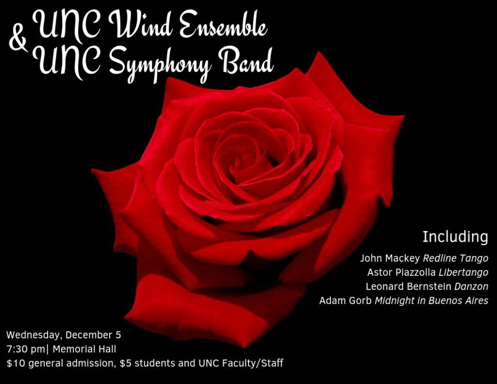 UNC Wind Ensemble & UNC Symphony Band Concert