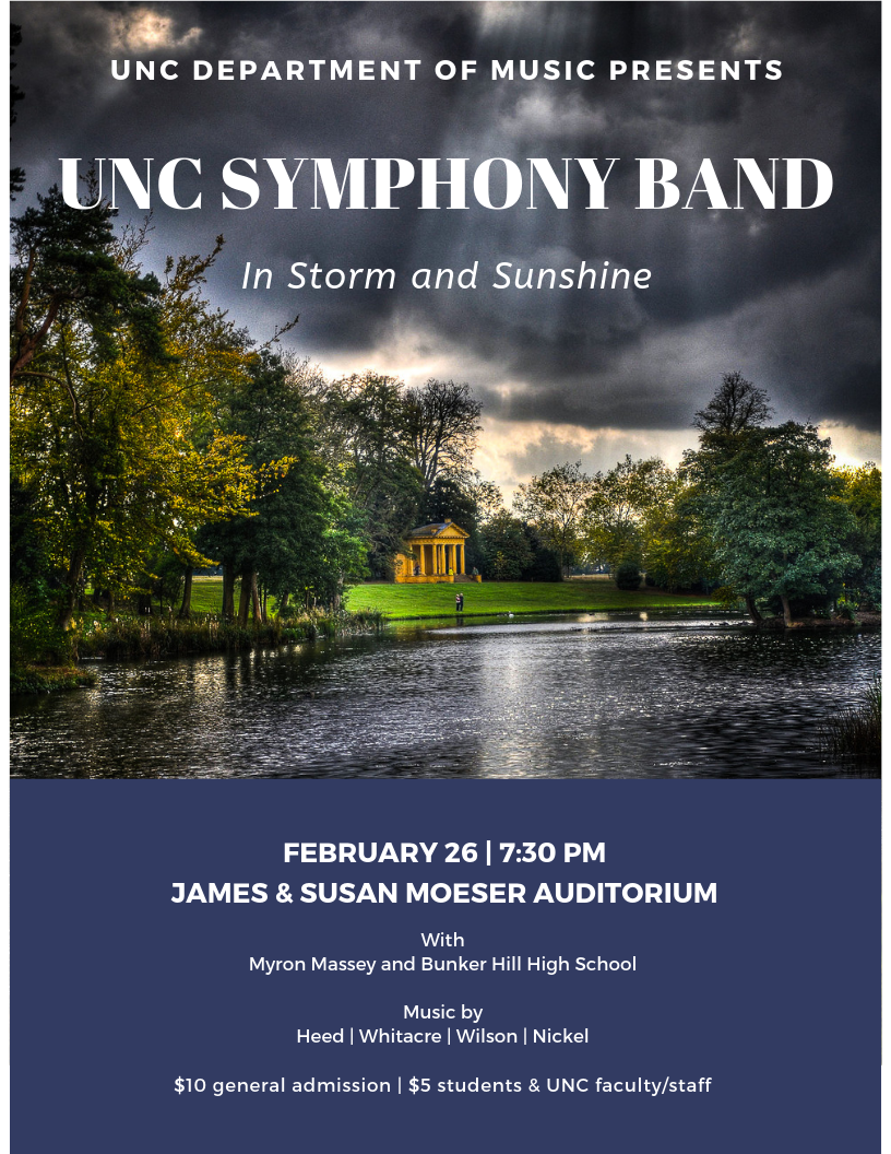 In Storm and Sunshine, UNC Symphony Band 2.26.19
