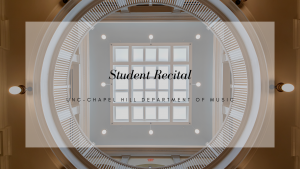 """Poster Image, title is: """"Student Recital"""""""