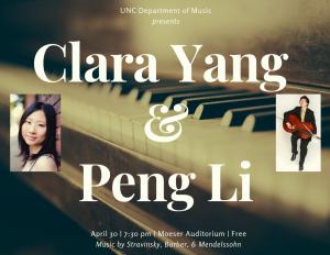 """Poster Image, title is: """"Clara Yang & Peng Li"""""""