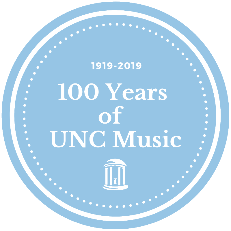 100 Year of UNC Music Logo