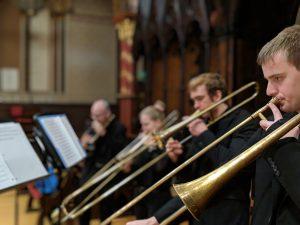 UNC Sackbut Ensemble in KCL Chapel.