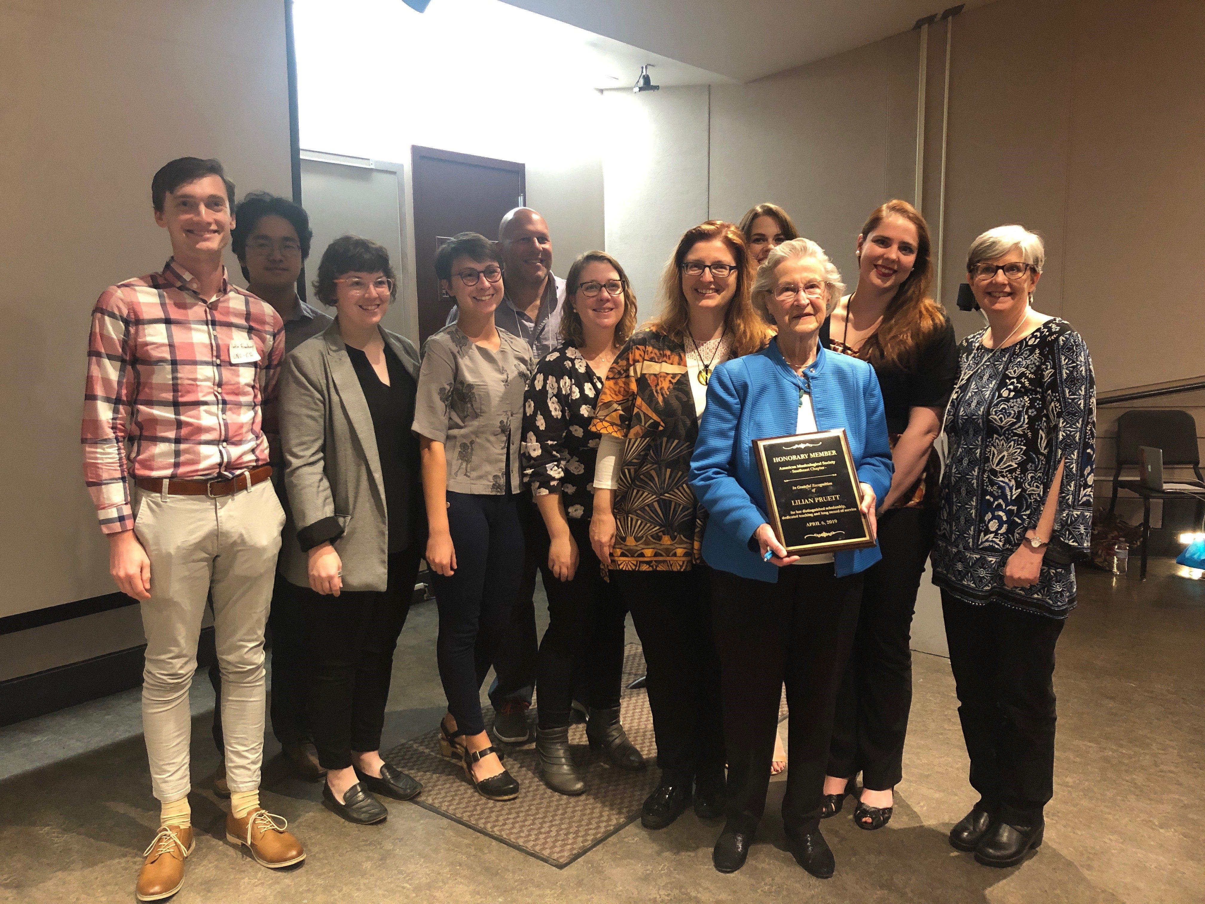 Lilian Pruett Awarded Inaugural Honorary Membership in AMS-SE