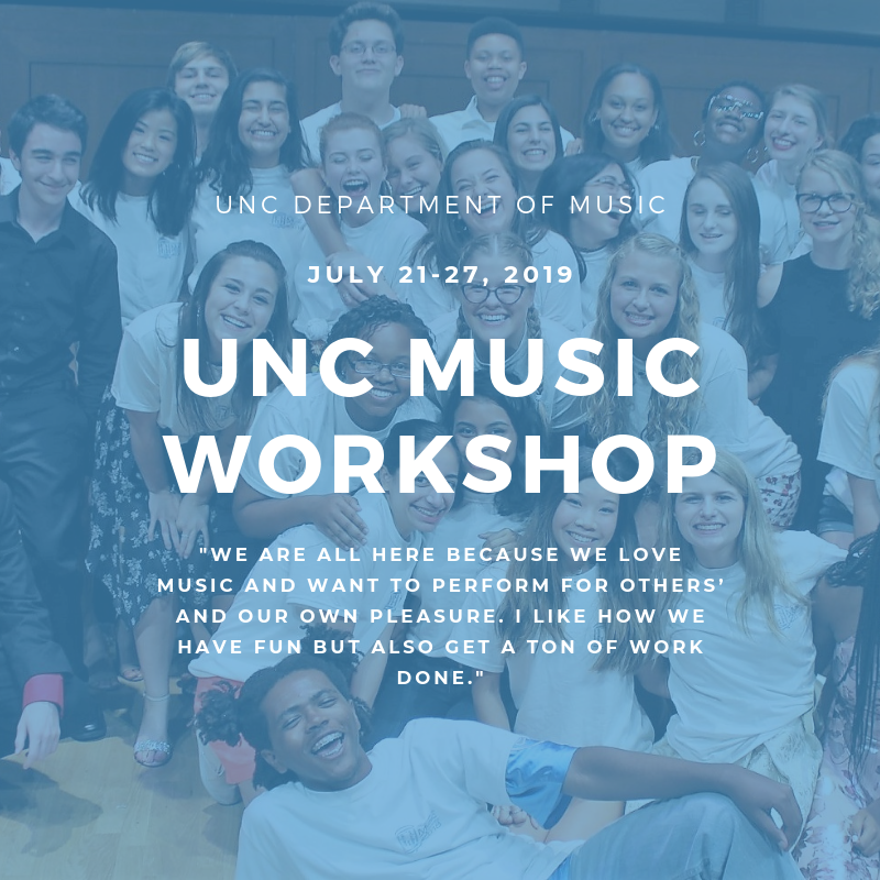 "Poster Image, title is: ""UNC Music Workshop"""