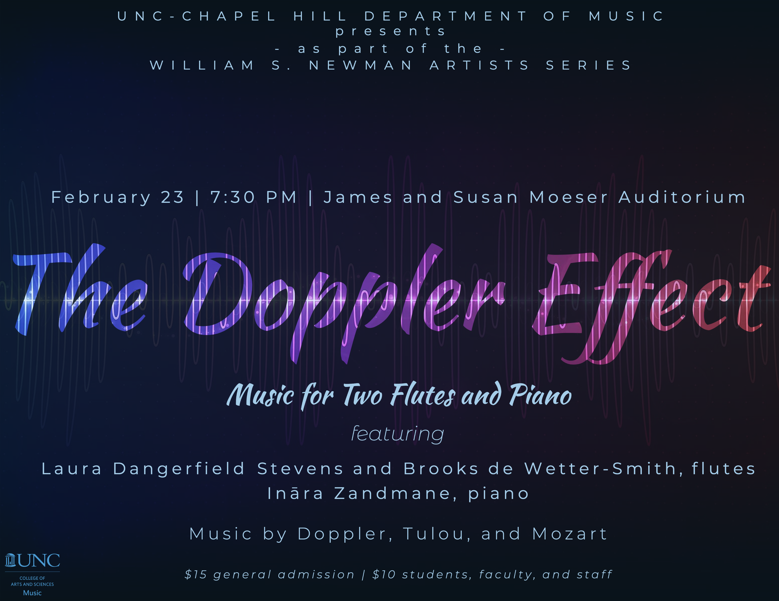 """Poster Image, title is: """"The Doppler Effect"""""""