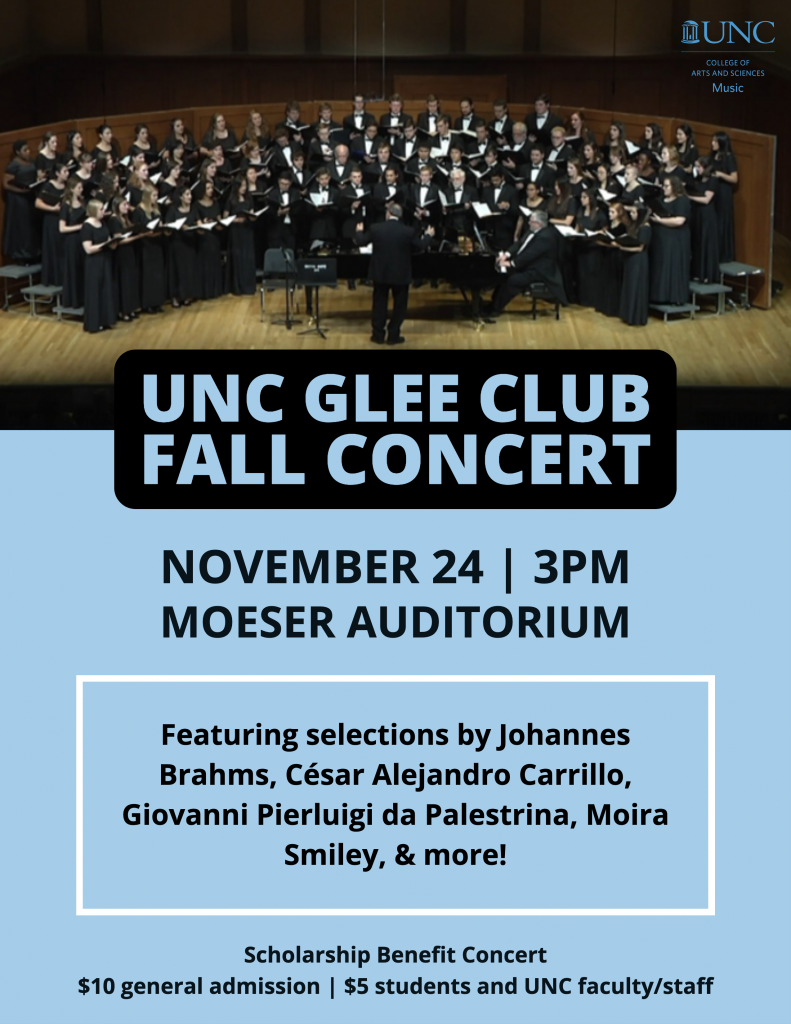 """Poster Image, title is: """"UNC Glee Club Fall Concert"""""""