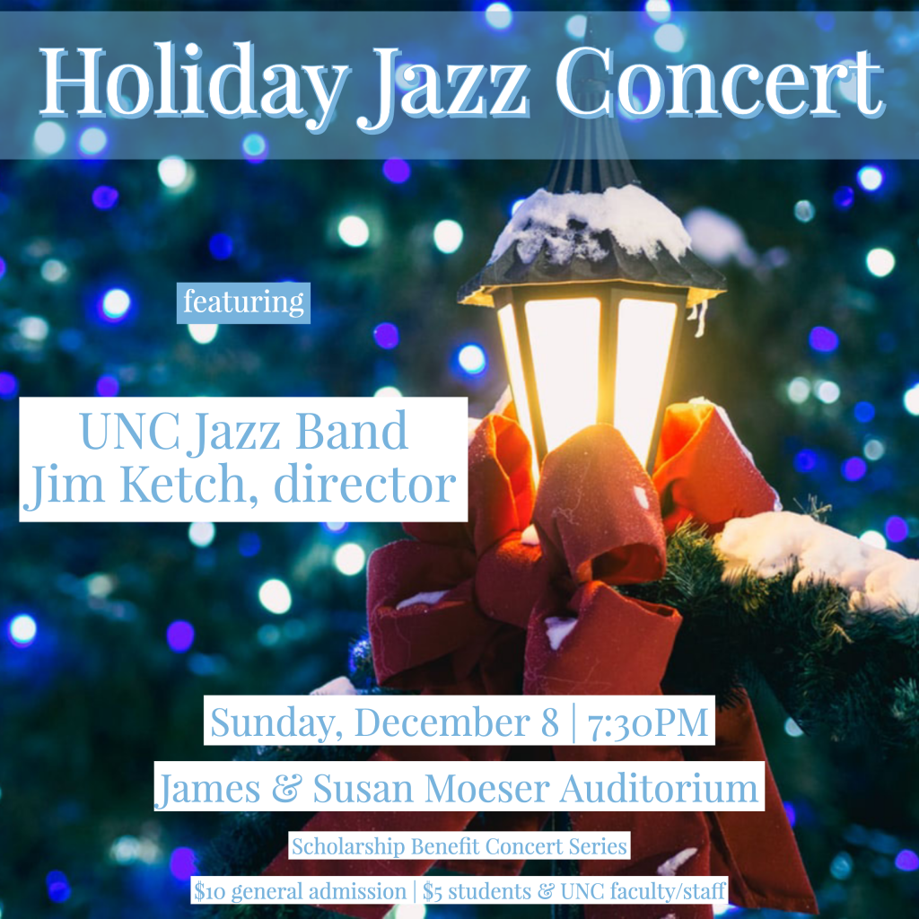 """Poster Image, title is: """"Holiday Jazz Concert"""""""