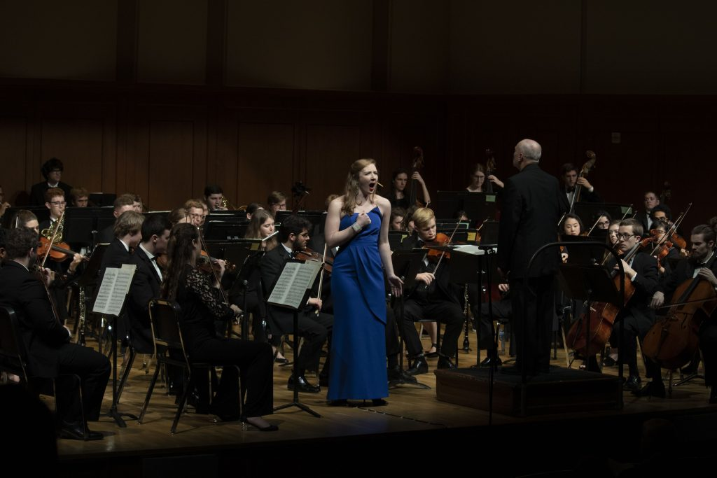 Susannah Stewart performs with the UNC Symphony Orchestra