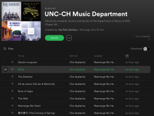 Department Spotify Playlist