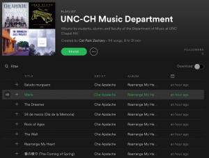 Department Spotify Playlist