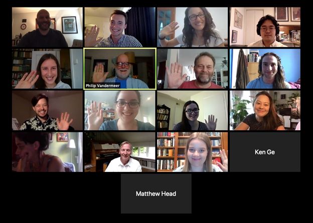 KCL Joint Music Conference participants on Zoom.
