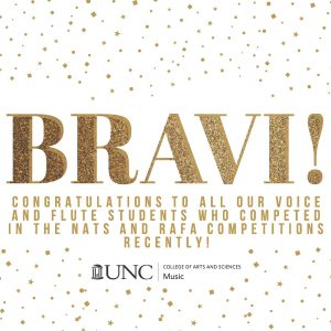 Bravi! in gold on a white background