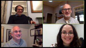Screenshot of COIL collaborators, Fort, Kris, Arakelyan, and Feldman.