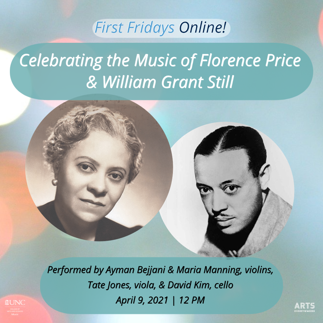 Florence Price and William Grant Still (text included in event listing)