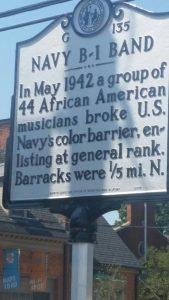 B-1 Navy Band Historic Marker
