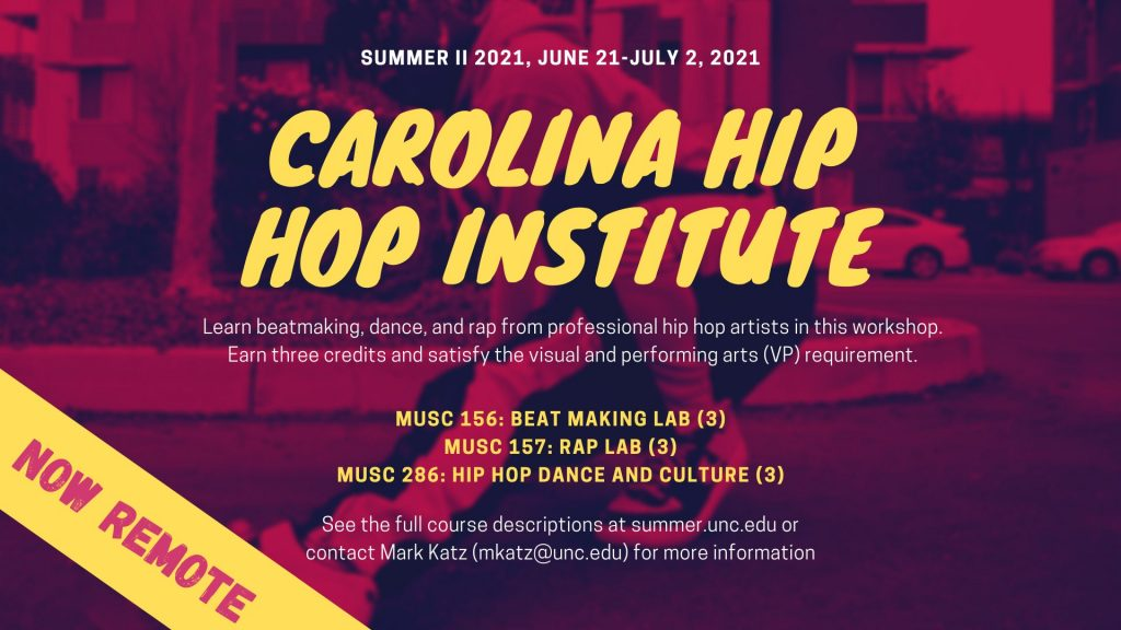 Carolina Hip Hop Institute flyer